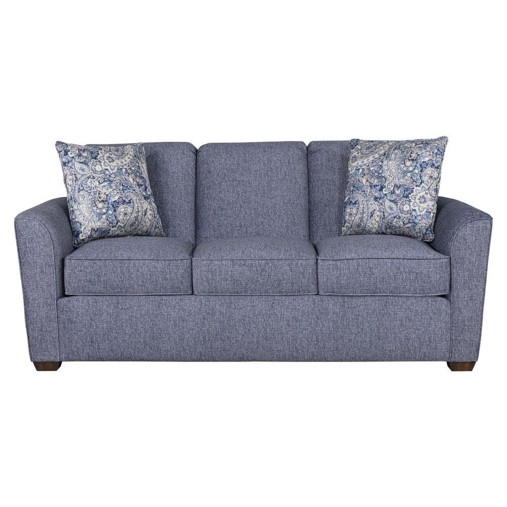 Flexsteel Lakewood Sofa in Indigo Blue, , large