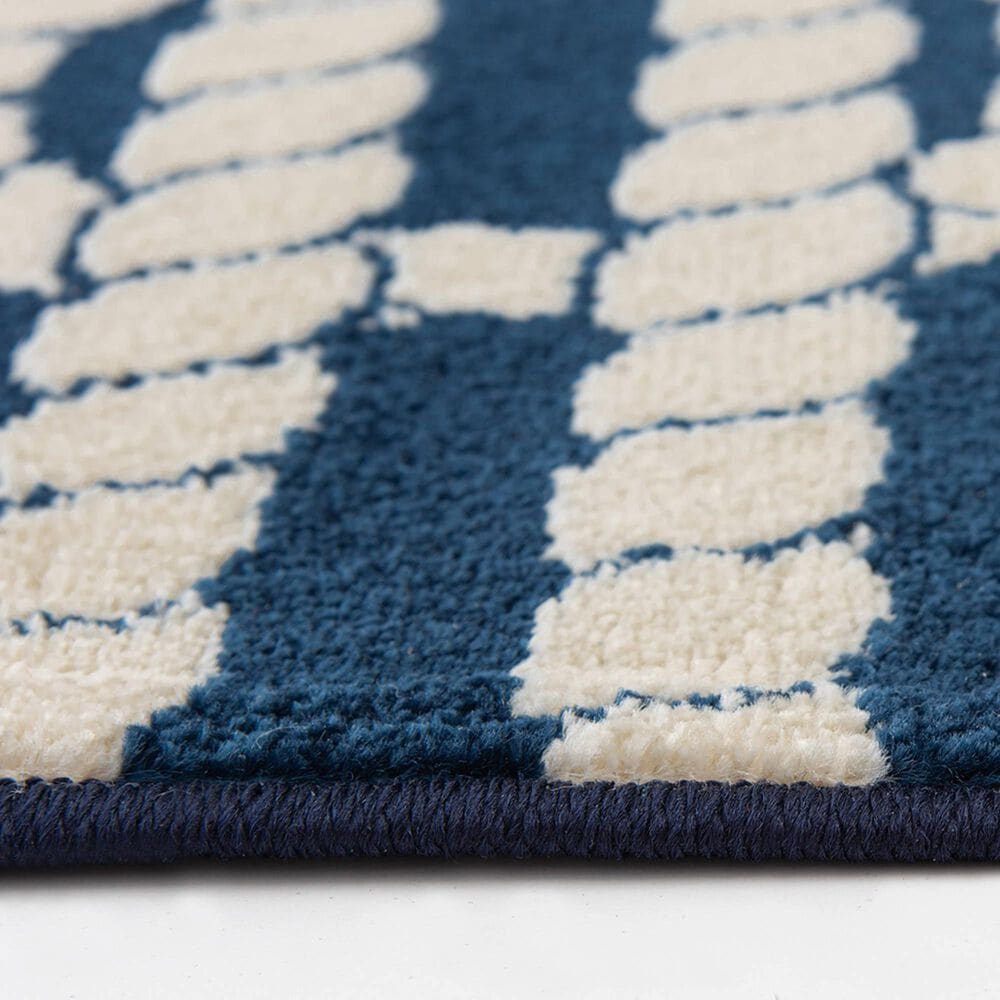 """Central Oriental Terrace Tropic Nautical Life 2337PN.085 6'7"""" x 9'6"""" Sapphire and Snow Area Rug, , large"""