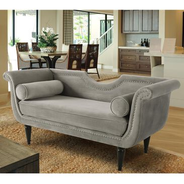 Jennifer Taylor Home Luna Upholstered Loveseat in Opal Grey, , large