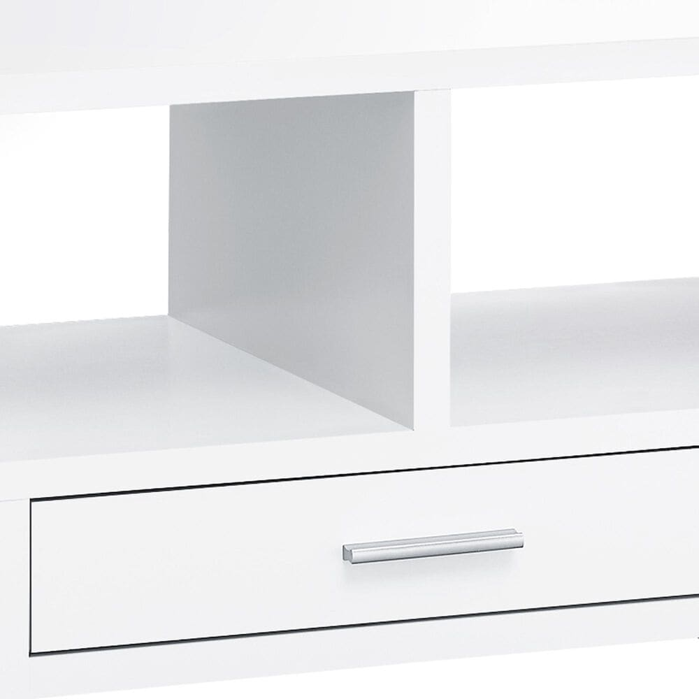 Monarch Specialties Storage Coffee Table in White, , large