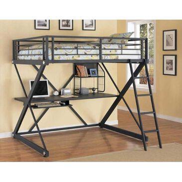 Little Dreamer Full Metal Loft Bed with Desk, , large