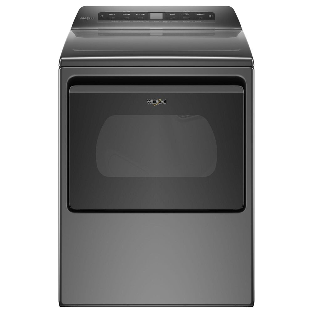 Whirlpool 4.7 Cu. Ft. Top Load Washer and 7.4 Cu. Ft. Electric Dryer Laundry Pair in Chrome Shadow, , large