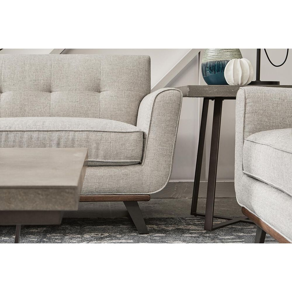 Accentric Approach Urban Eclectic Loveseat in Beige, , large