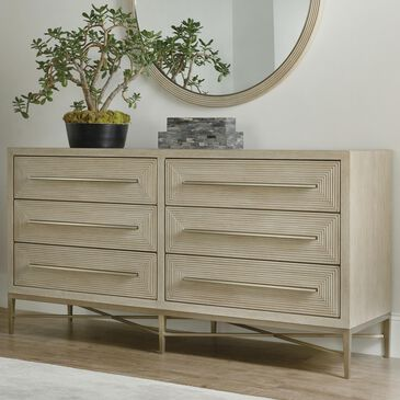 Hooker Furniture Cascade 6-Drawer Dresser in Taupe and Champagne, , large