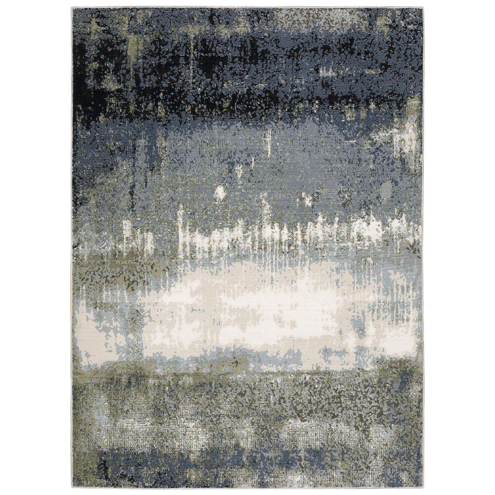"Oriental Weavers Caravan Brush Up 7'10"" x 10'10"" Blue and Green Area Rug, , large"