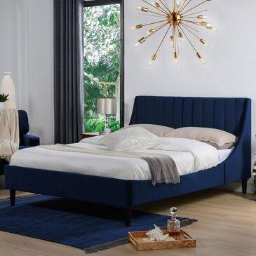 Jennifer Taylor Home Aspen Queen Platform Bed in Navy Blue, , large