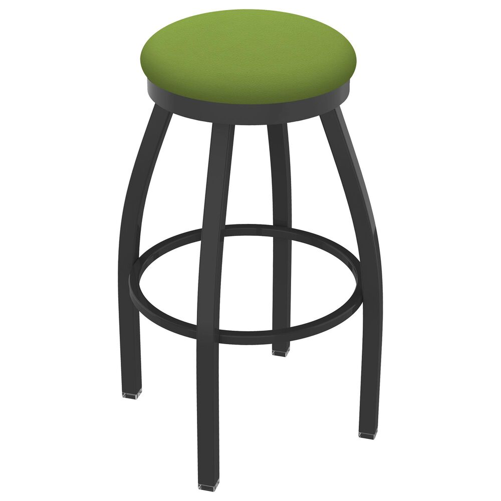 """Holland Bar Stool 802 Misha 25"""" Swivel Counter Stool with Pewter and Canter Kiwi Green Seat, , large"""
