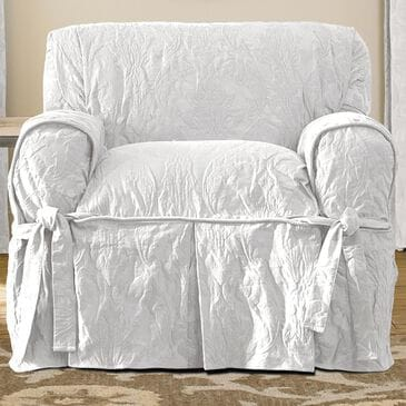 Surefit Chair Slipcover in White, , large