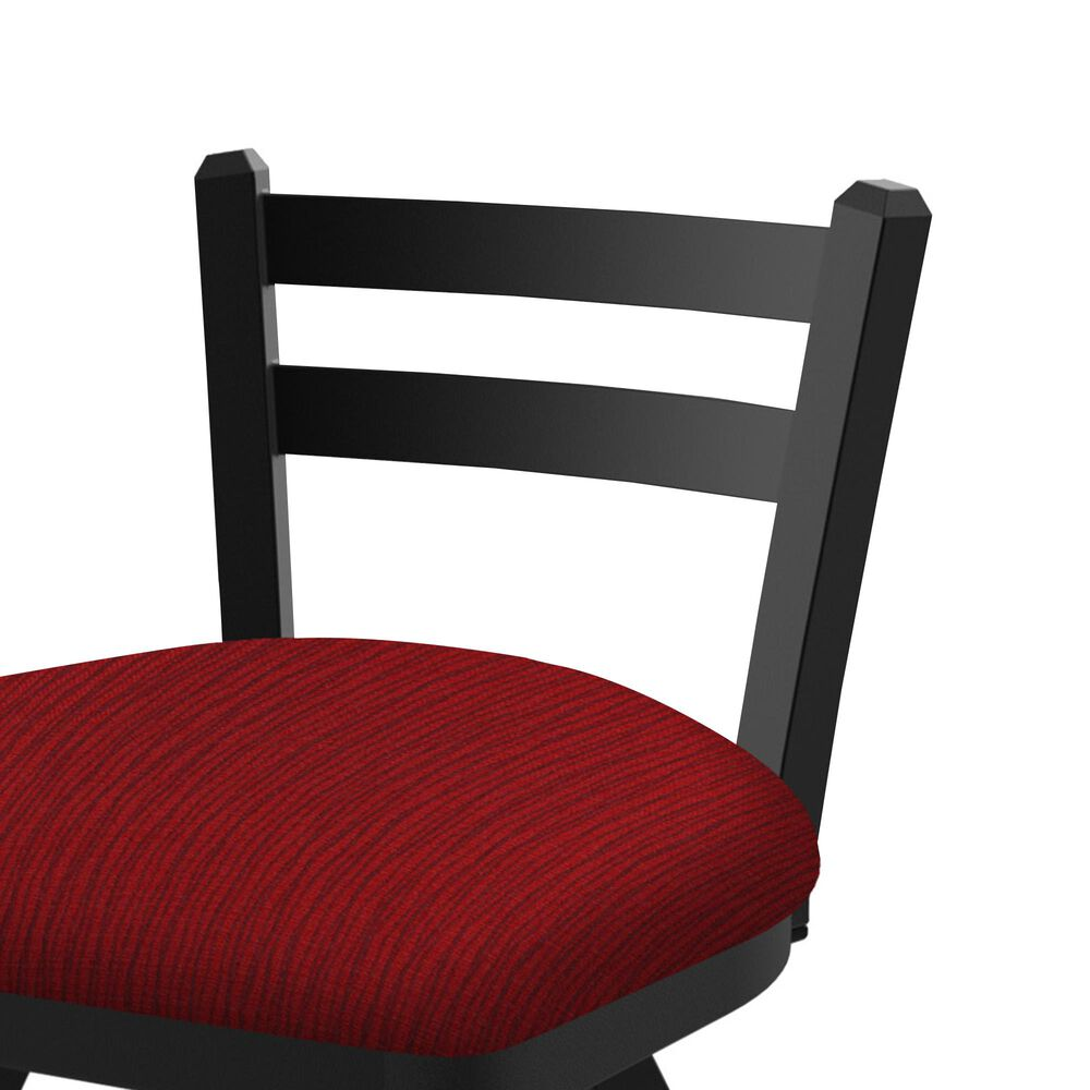 """Holland Bar Stool 411 Jackie 25"""" Low Back Swivel Counter Stool with Black Wrinkle and Graph Ruby Seat, , large"""
