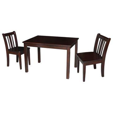 International Concepts San Remo 3 Piece Juvenile Table Set in Rich Mocha, , large
