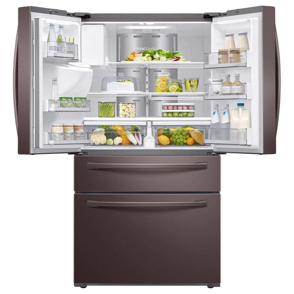 Samsung 2-Piece Kitchen Package with 28 Cu. Ft. French Door Refrigerator and Top Control Dishwasher in Tuscan Stainless Steel, , large
