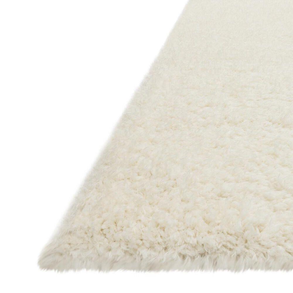"Loloi Kayla Shag KAY-01 2'2"" x 4' Ivory Door Mat, , large"