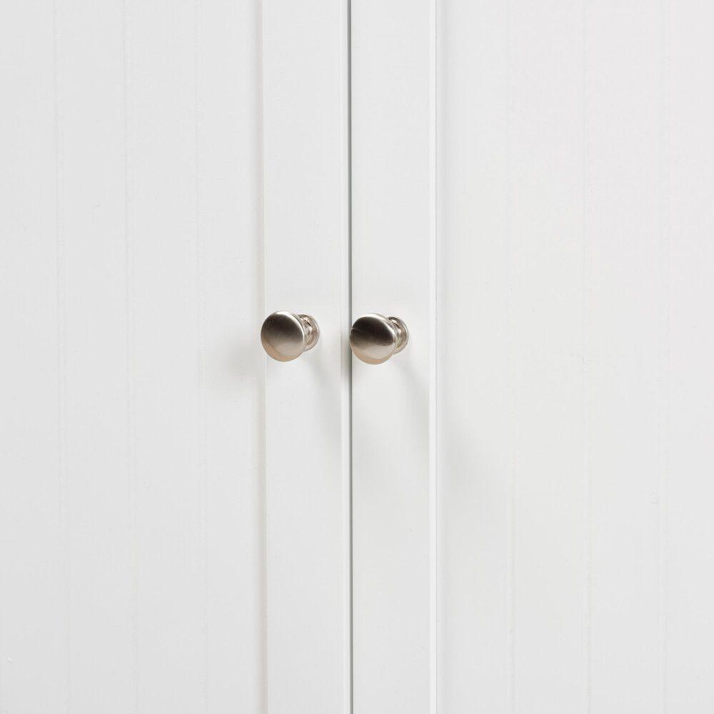Baxton Studio Jaela 2-Door Bathroom Storage Cabinet in White, , large