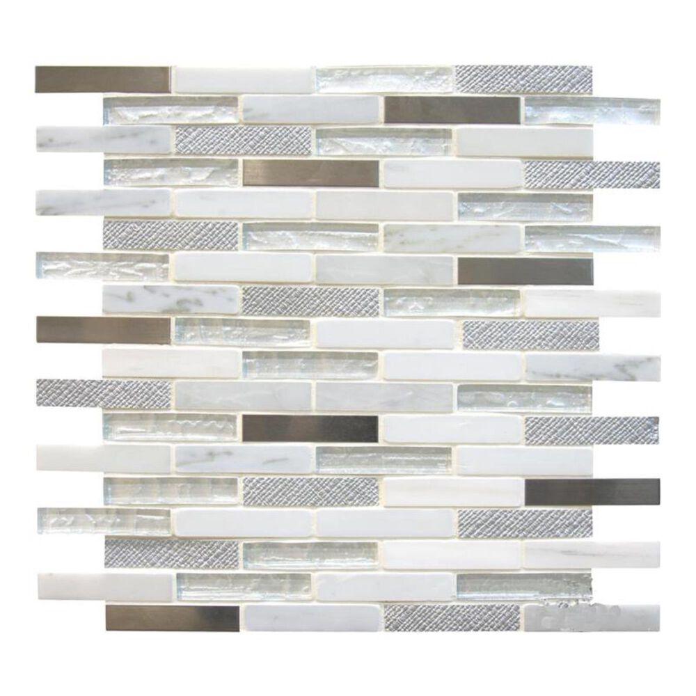 "MS International Ocean Crest 12"" x 12"" Glass/Stone/Metal Mosaic Sheet, , large"