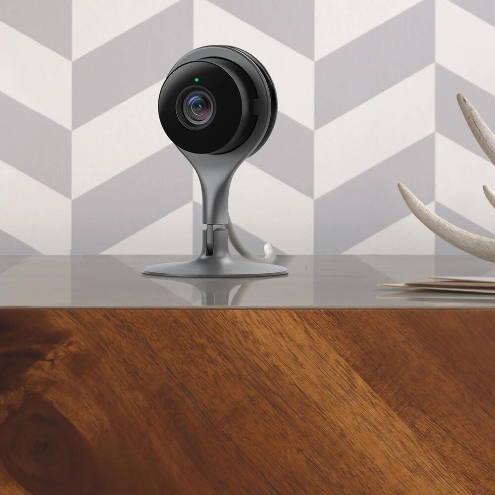 """Google Nest Indoor-Outdoor Security Cameras and 7"""" Smart Display Hub in Charcoal, , large"""