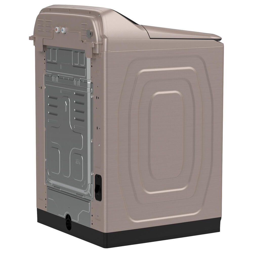 Samsung 5.1 Cu. Ft. Smart Top Load Agitator Washer and 7.4 Cu. Ft. Gas Dryer in Champagne, , large