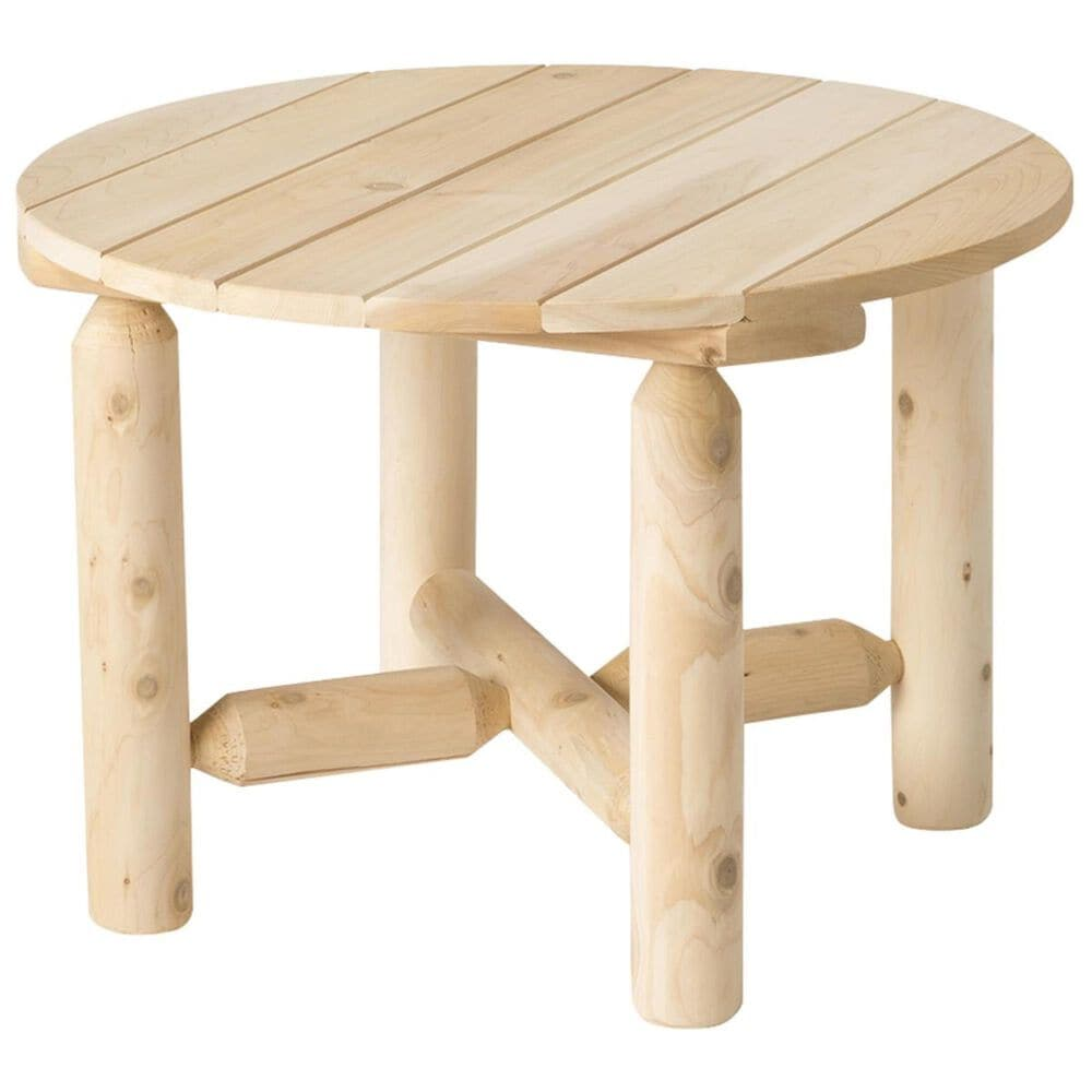 Bestar Outdoor White Cedar 3-Piece Dual Chair Chat Set in Natural, , large
