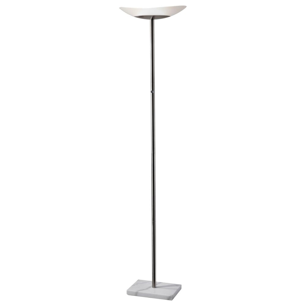 Adesso Celeste LED Torchiere in Brushed Steel, , large