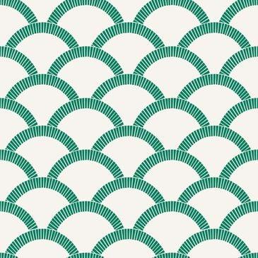 Tempaper Mosaic 28 sq. ft. Peel & Stick Wallpaper in Emerald Green, , large