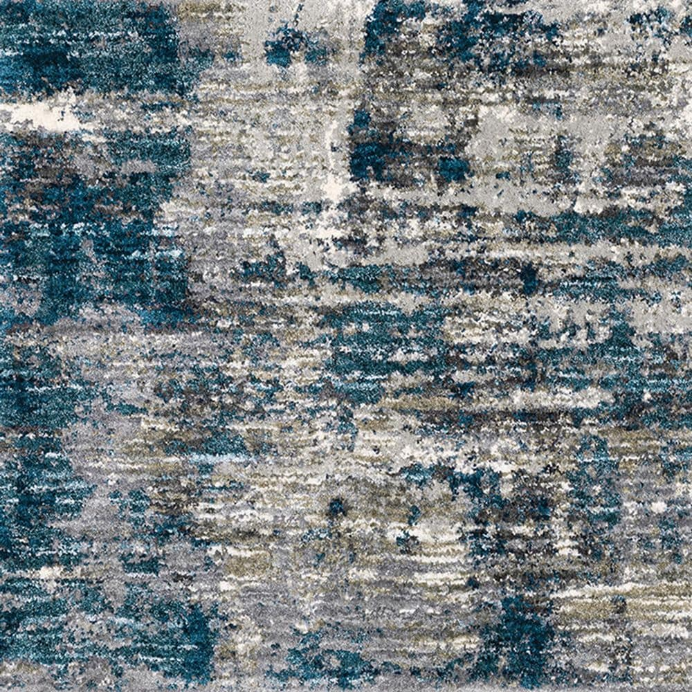 """Oriental Weavers Aspen Distressed Shag 2061L 2'3"""" x 7'6"""" Gray and Blue Runner, , large"""