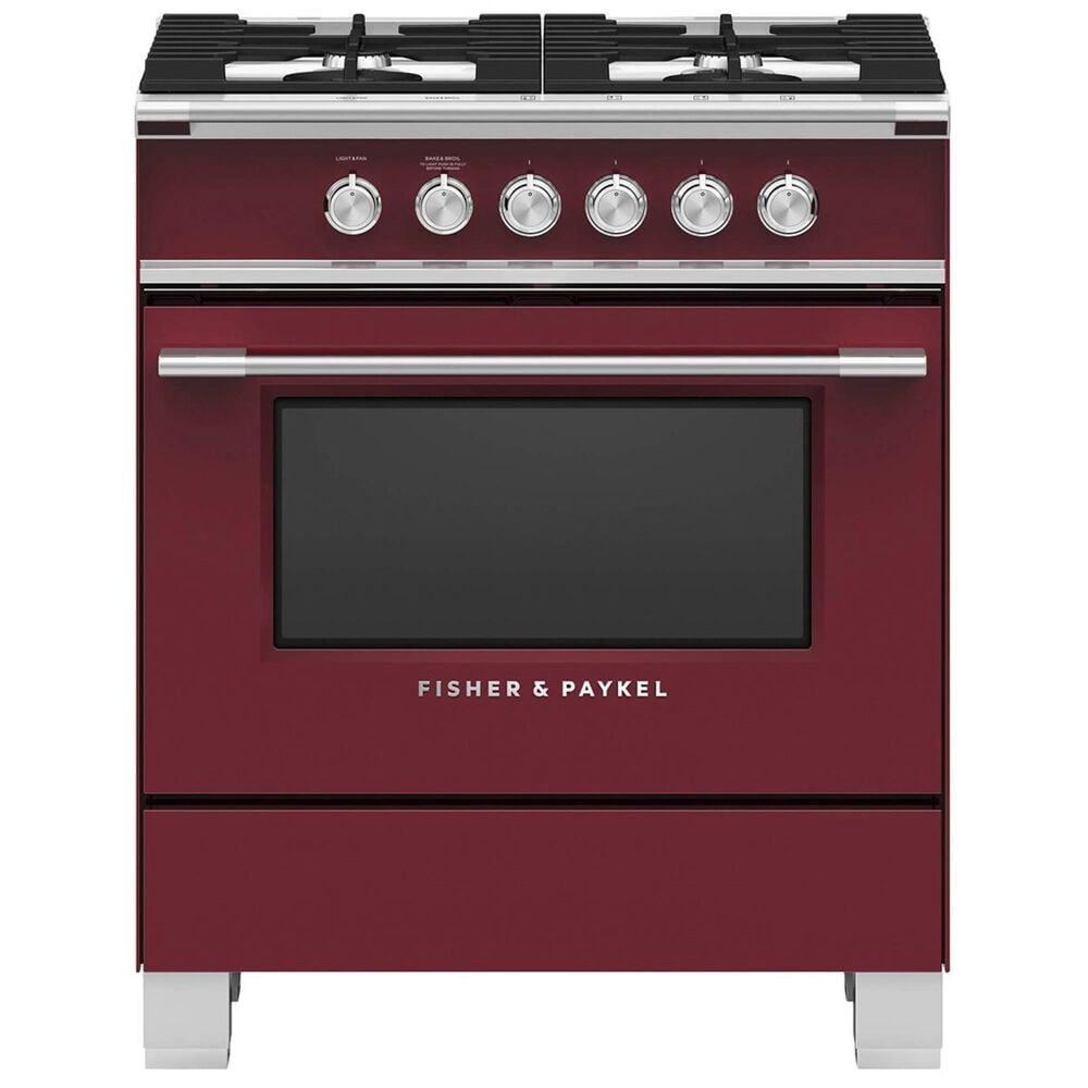 """Fisher and Paykel 30"""" Freestanding Classic Dual Fuel Range in Red, , large"""