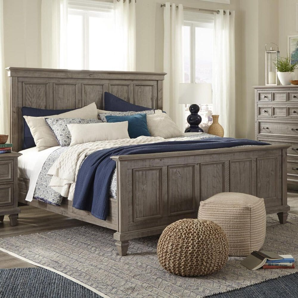 Nicolette Home Lancaster Queen Bed in Dovetail Grey, , large
