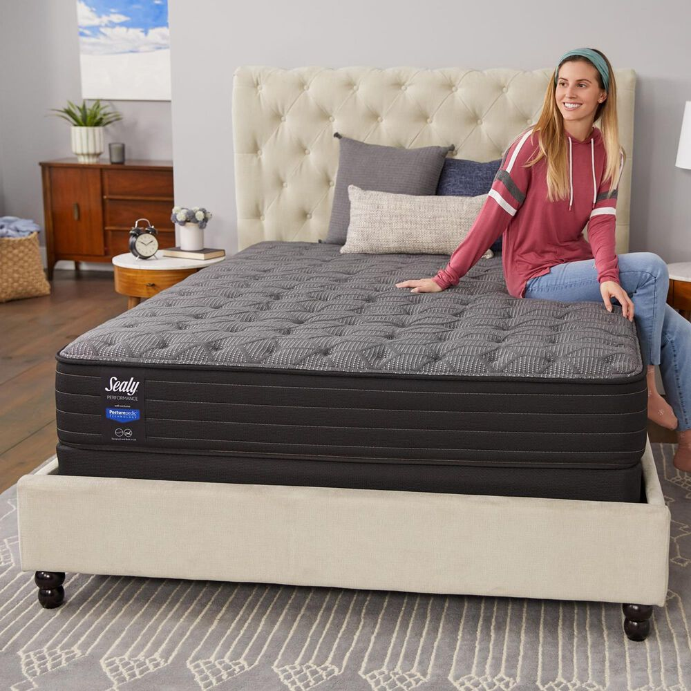 Sealy Response Performance Cedar Lane Cushion Firm Queen Mattress with Low Profile Box Spring, , large
