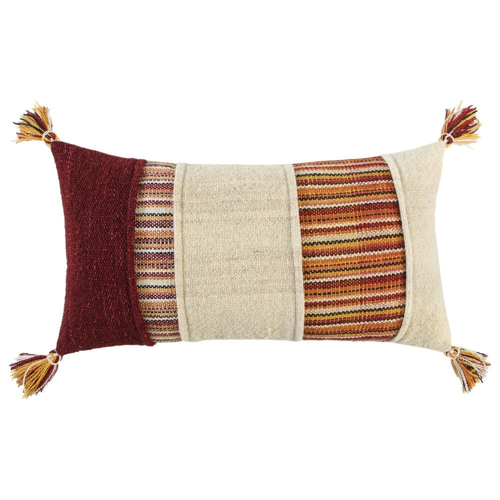 """Rizzy Home 14"""" x 26"""" Pillow Cover in Multi, , large"""