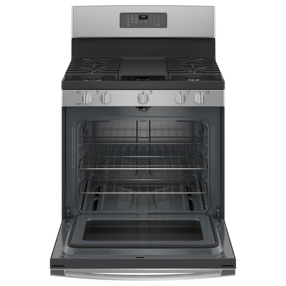 "GE Appliances 30"" Freestanding Gas Fingerprint Resistant Range in Stainless Steel, , large"
