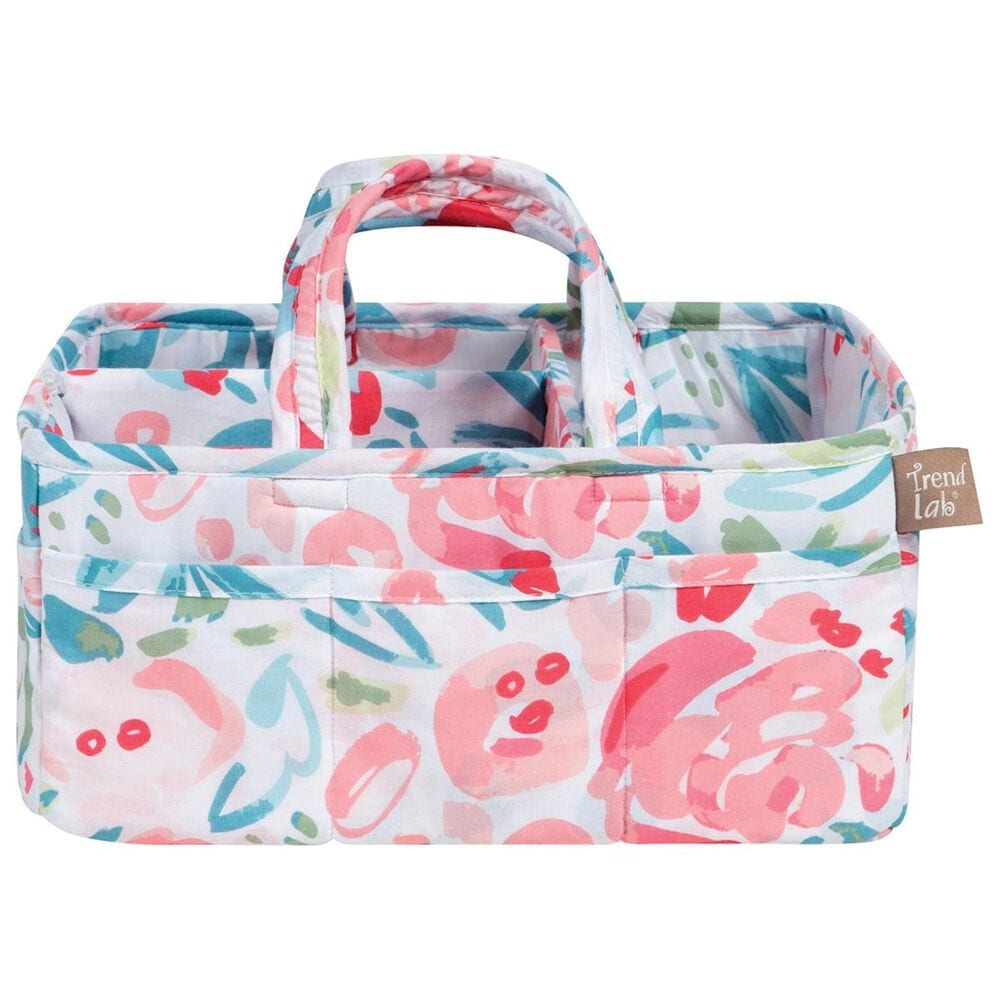 Trend Labs Painterly Floral Storage Caddy in Pink, , large