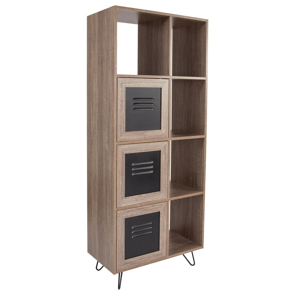 Flash Furniture Woodridge 5-Cube Storage Bookcase in Brown, , large