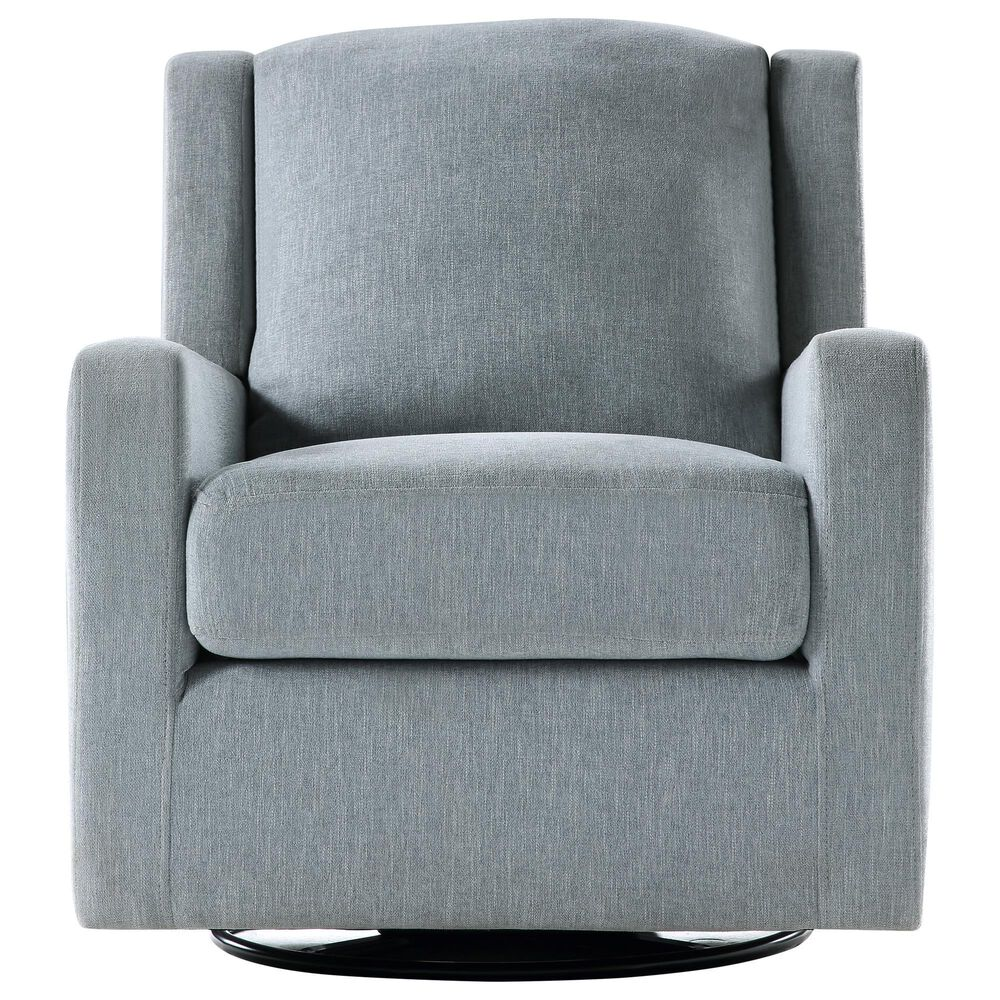 Ovis Clara Nursery Swivel Glider Chair in Stone Blue and Black, , large
