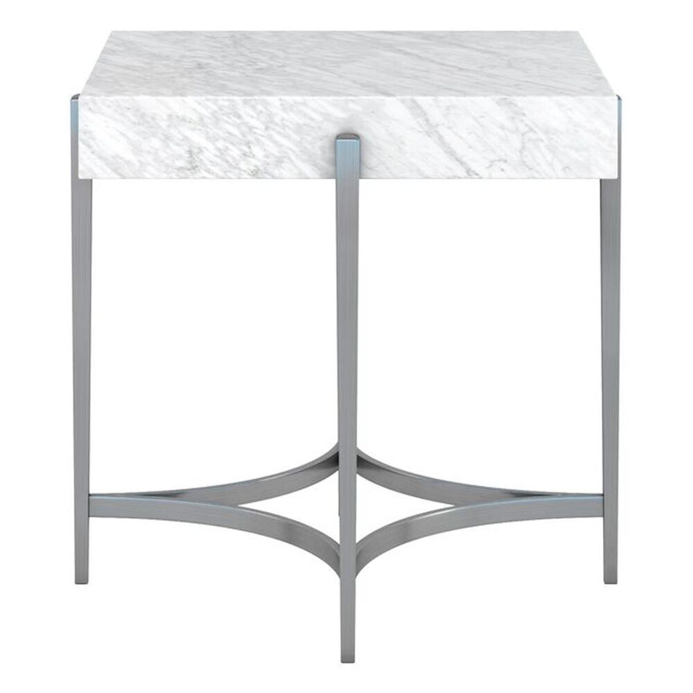 Vantage Masseria End Table in Shimmer Gray and Marble, , large