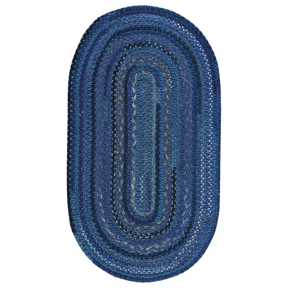 Capel Bayview 0036-470 4' x 6' Oval Twilight Blue Area Rug, , large