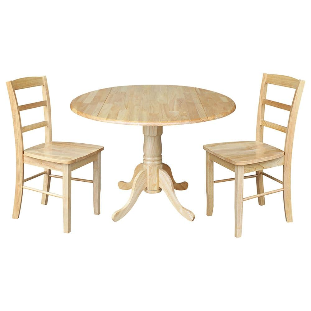 International Concepts Madrid 3-Piece Dining Set in Natural, , large