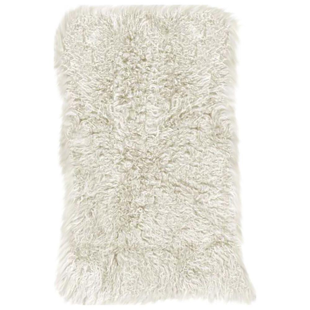 Nourison Couture Fur F7102 3' x 5' White Area Rug, , large