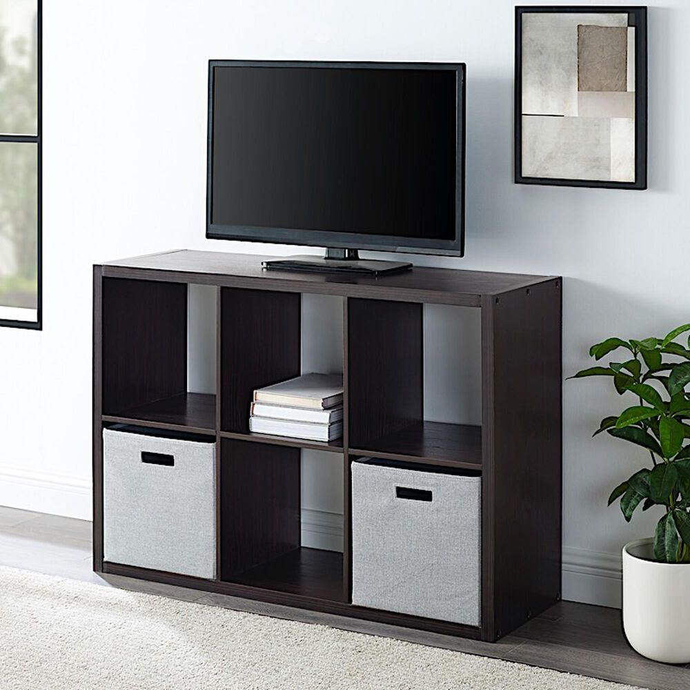 Linden Boulevard Goven 6 Cubby Storage Cabinet in Espresso, , large