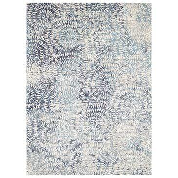 Scott Living Expressions Imprinted 91671-60110 8' x 11' Aqua Area Rug, , large