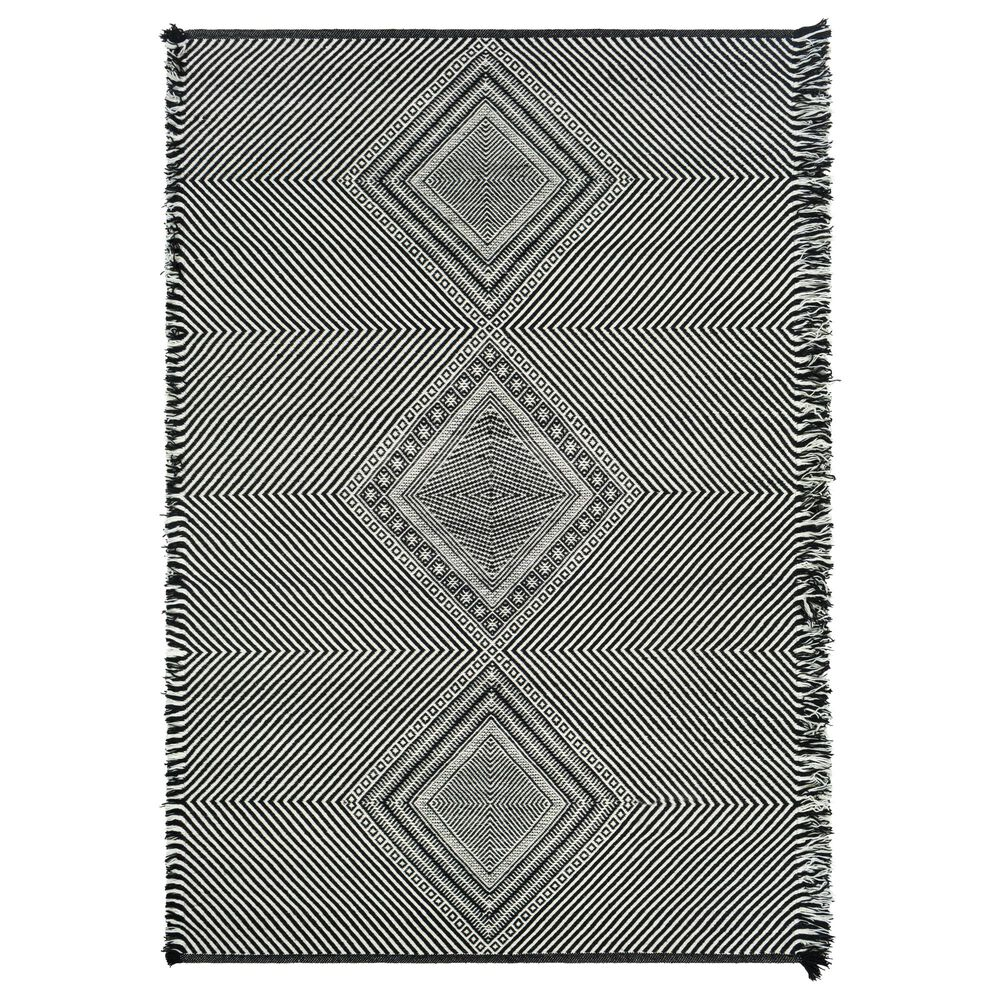 Surya Zanafi ZNF-2302 6' x 9' Black and White Area Rug, , large