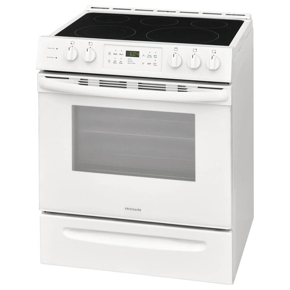 Frigidaire 30'' Front Control Freestanding Electric Range in White, , large