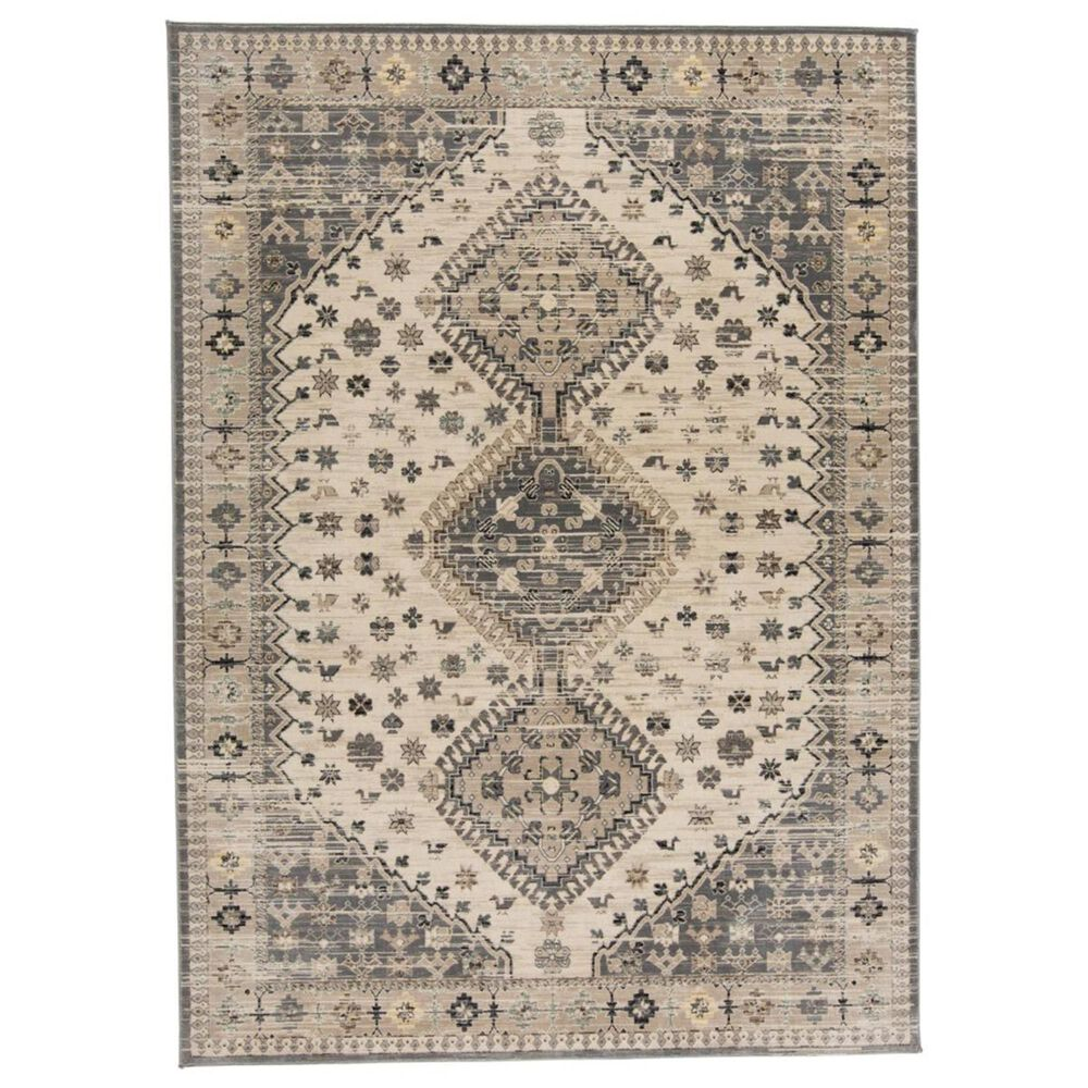 """Feizy Rugs Grayson 3577F 4""""11"""" x 7""""8"""" Beige and Gray Area Rug, , large"""