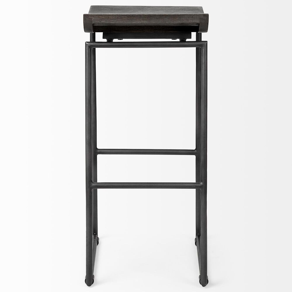 Mercana Givens II Barstool in Matte Black and Dark Brown, , large
