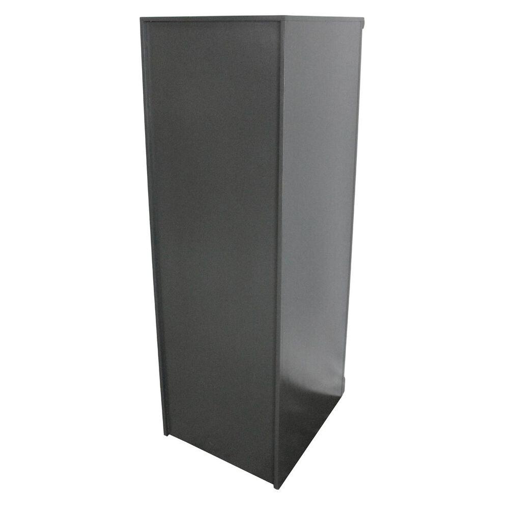 American Heartland Poplar 4-Drawer File Cabinet in Grey, , large