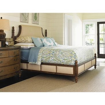 Tommy Bahama Home Bali Hai Orchid Bay Queen Upholstered Panel Bed in Warm Brown, , large
