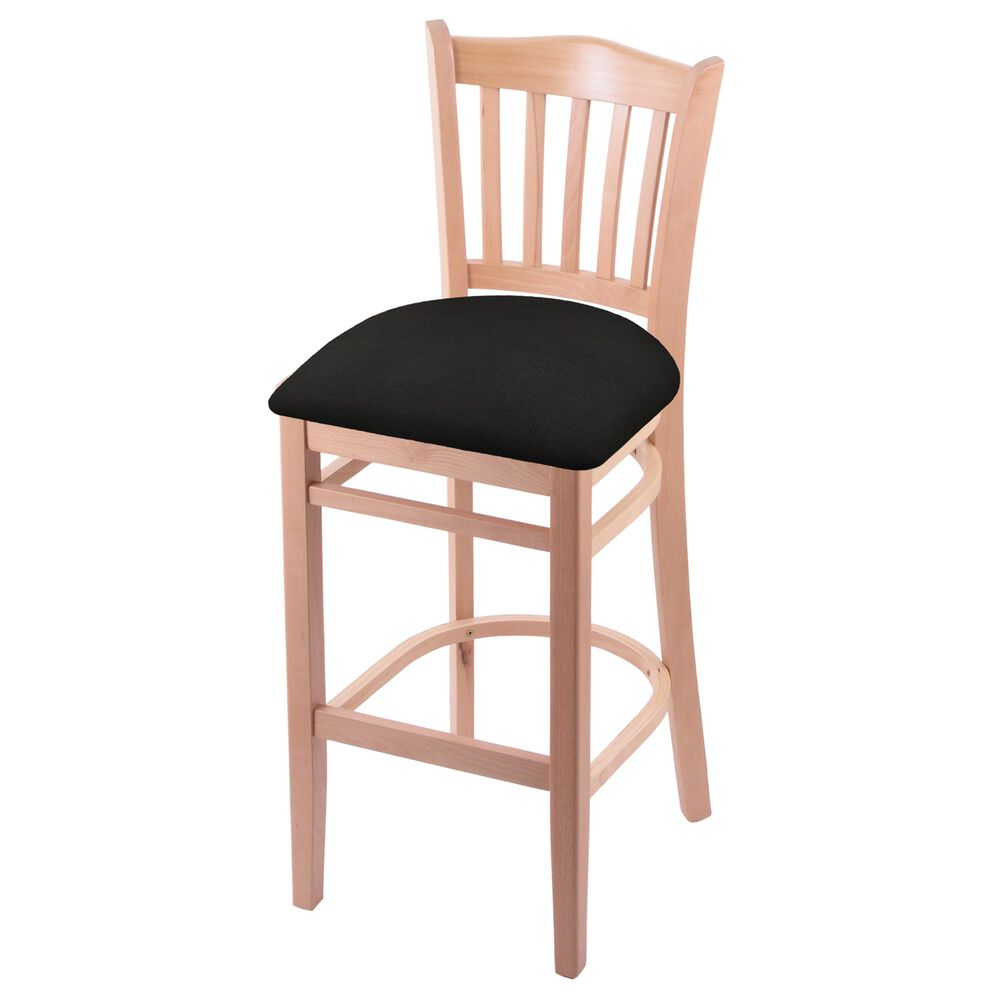 """Holland Bar Stool 3120 30"""" Bar Stool with Natural Finish and Canter Espresso Seat, , large"""