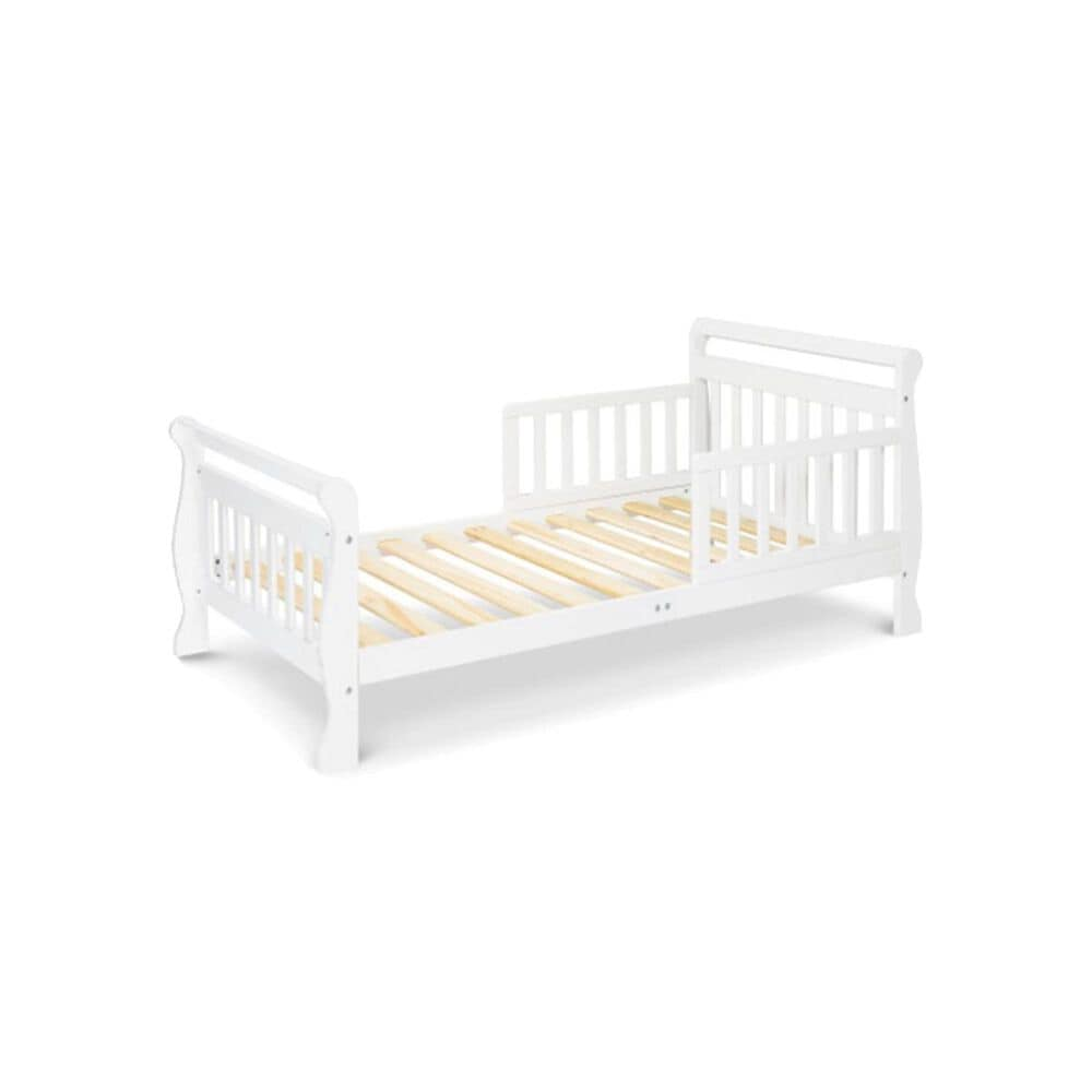DaVinci Sleigh Toddler Bed in White, , large