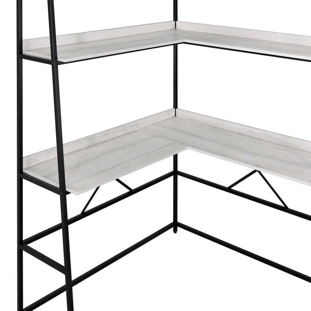 Furniture of America Darrel Desk in Black and Light Oak, , large