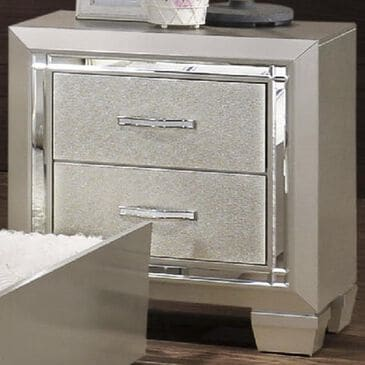 Mayberry Hill Platinum Youth Nightstand in Platinum, , large
