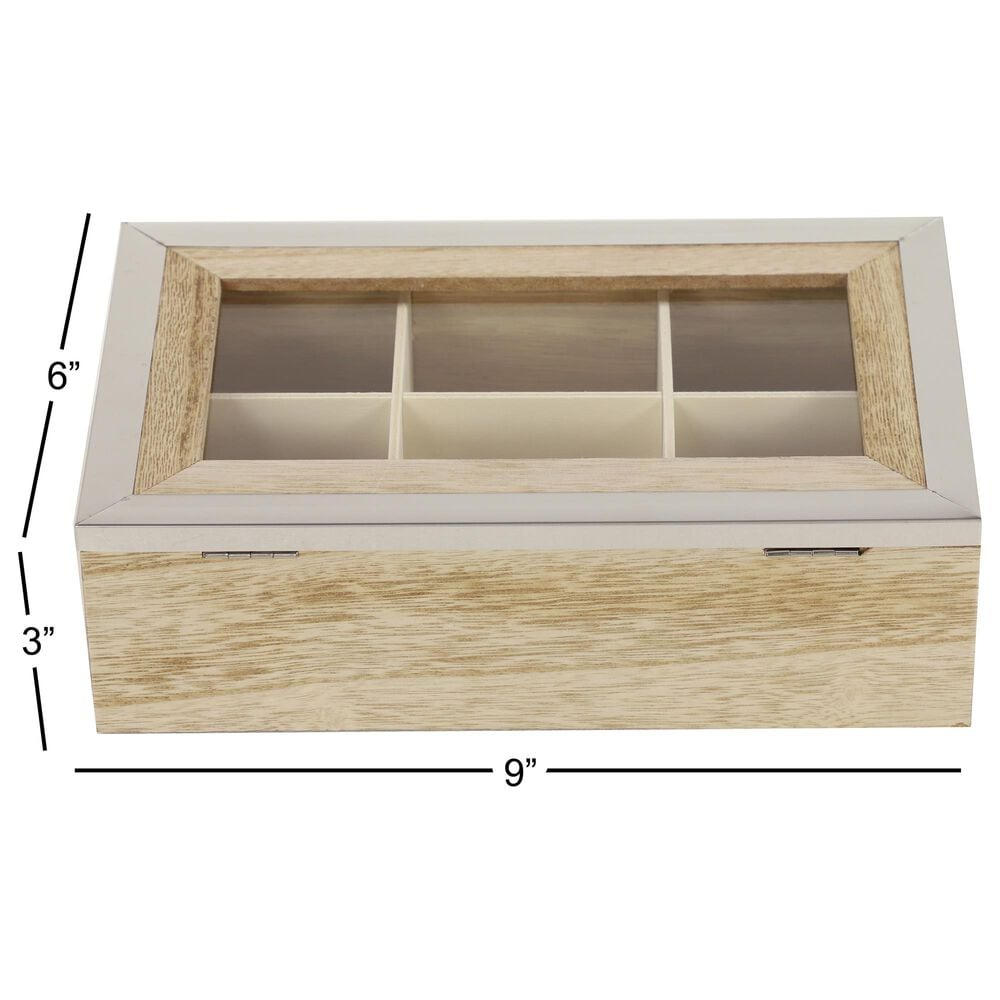 Maple and Jade Natural Wood Jewelry Box in Light Brown (Set of 2), , large