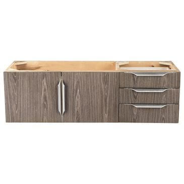"James Martin Mercer Island 48"" Single Bathroom Vanity Cabinet in Ash Gray with Brushed Nickel Hardware, , large"